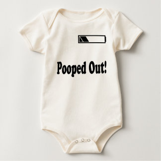 Pooped Out! Battery Infant & Baby Art Tee T-Shirts