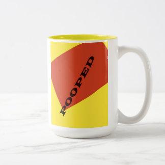 """Pooped"" Two-Tone Coffee Mug"