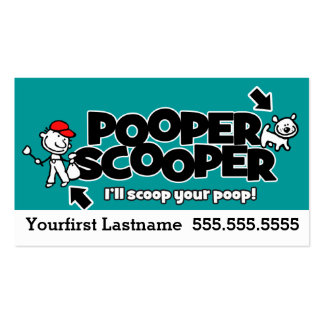 Pooper Scooper.Pet waste removal.Custom text/color Business Card Template
