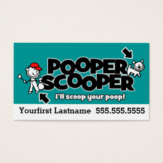 Pooper Scooper.Pet waste removal.Custom text/color Business Card