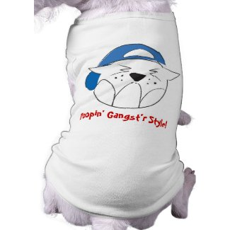 Poopin' Gangst'r Style! Pet t-shirt petshirt
