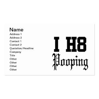 pooping business card