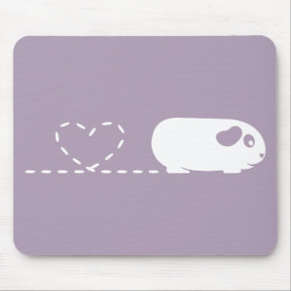 Pooping Heart Guinea Pig Mousemat Mouse Pad