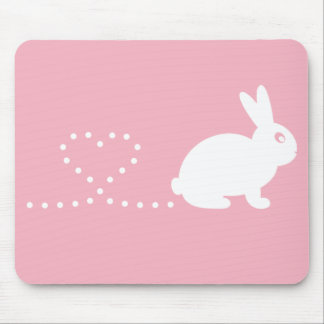 Pooping Heart Rabbit Mousemat Mouse Pad
