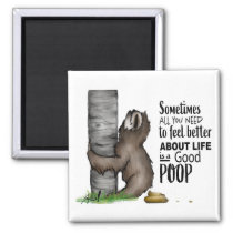 pooping Sloth Magnet