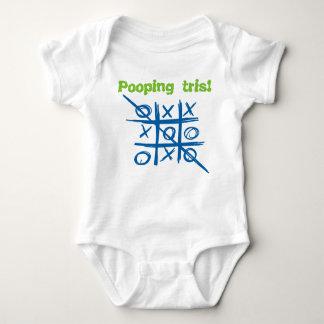 Pooping Tris tica tac toe baby Baby Bodysuit