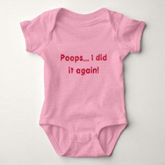Poops... I did it again! Baby Bodysuit