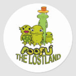 poopu round stickers