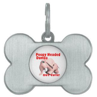 Poopy dirigió Dumbo Placas De Nombre De Mascota