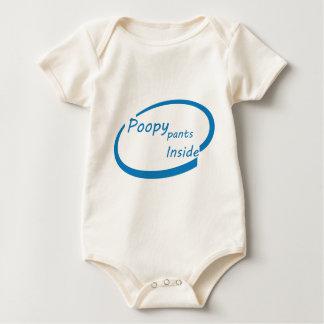 Poopy Pants Inside Baby Bodysuit