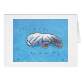 Poor Balloon Boy - Heene family hoax ART Greeting Card