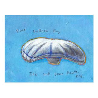Poor Balloon Boy - Heene family hoax ART Postcard