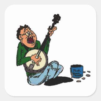 Poor Banjo Picker Square Sticker
