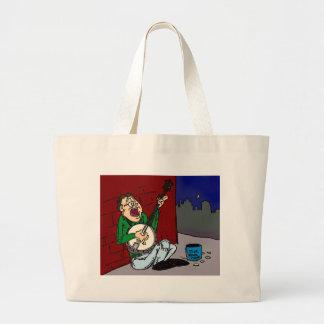 Poor Banjo Player Tote Bags