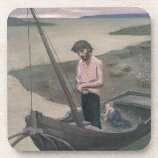 Poor Fisherman by Pierre Puvis de Chavannes Drink Coaster