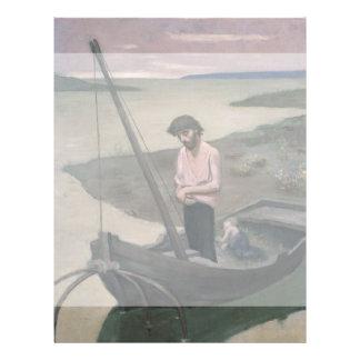 "Poor Fisherman by Pierre Puvis de Chavannes 8.5"" X 11"" Flyer"