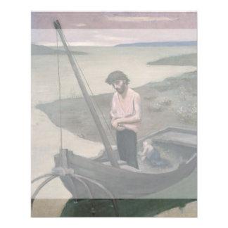 "Poor Fisherman by Pierre Puvis de Chavannes 4.5"" X 5.6"" Flyer"