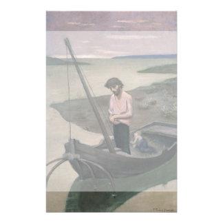 "Poor Fisherman by Pierre Puvis de Chavannes 5.5"" X 8.5"" Flyer"