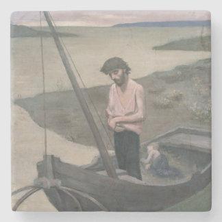 Poor Fisherman by Pierre Puvis de Chavannes Stone Coaster