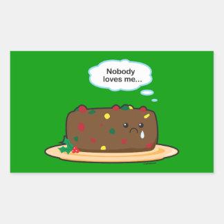 Poor Fruitcake! Rectangular Sticker