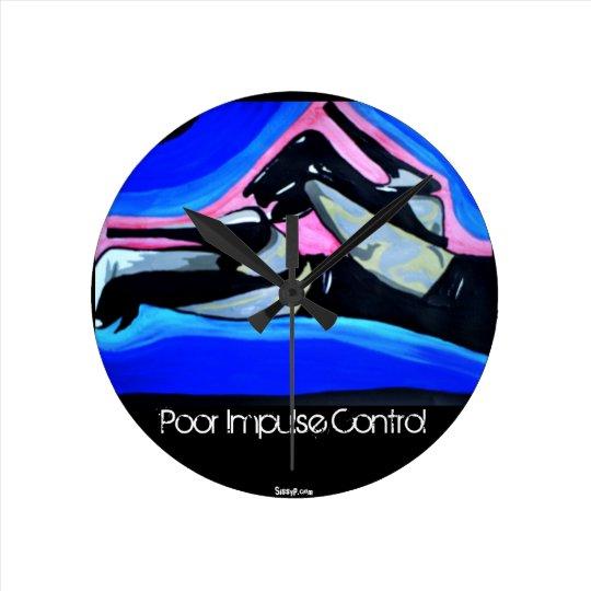 'Poor Impulse Control' Wall Clock