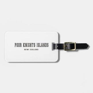 Poor Knights Islands New Zealand Luggage Tag