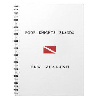 Poor Knights Islands New Zealand Scuba Dive Flag Notebook