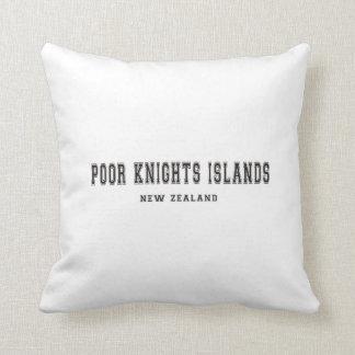 Poor Knights Islands New Zealand Throw Pillow