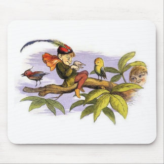 Poor_little_birdie_teased_by_Richard_Doyle Mouse Pad
