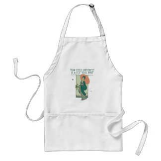 Poor Little Butterfly Is A Fly Girl Now Apron
