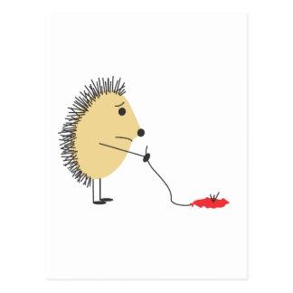 Poor Little Hedgehog Postcard