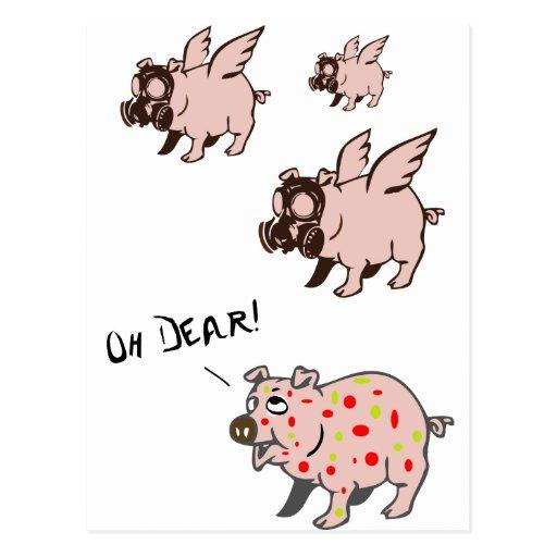 Poor Little Piggy Postcard