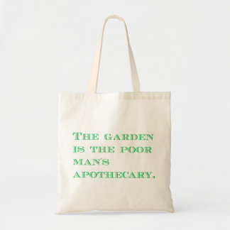 Poor Man's Apothecary Budget Tote Bag