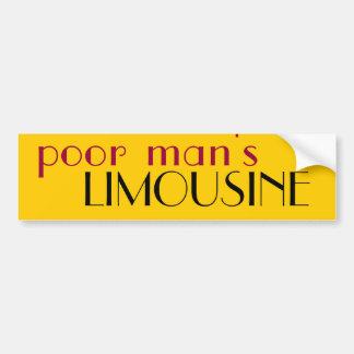 poor man's limousine car bumper sticker