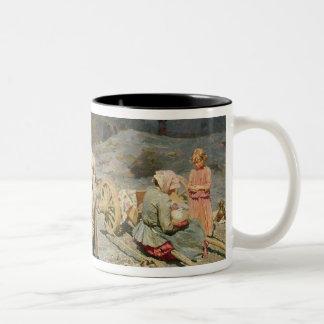 Poor People Gathering Coal Two-Tone Coffee Mug