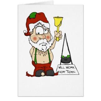 Poor Santa Greeting Cards