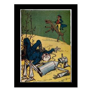 Poor Scarecrow and TinMan Postcard