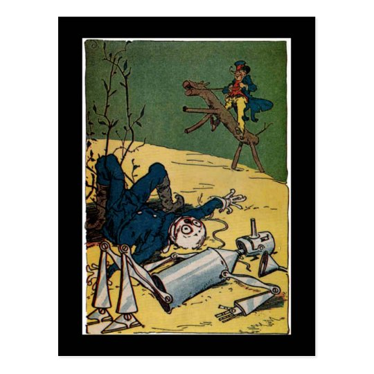 Poor Scarecrow and TinMan Postcard