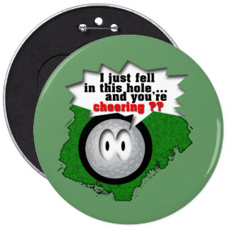 Poor Widdle Ball Pinback Button