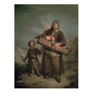 Poor Woman with Children Postcards