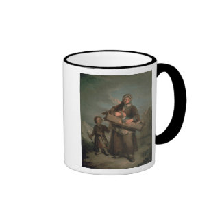 Poor Woman with Children Ringer Coffee Mug