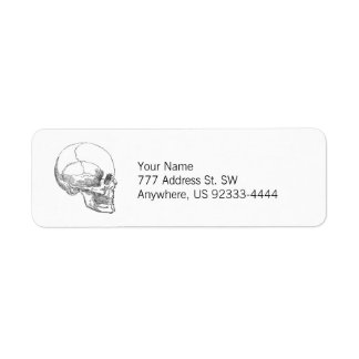 Poor Yorick's Skull Return Address Label