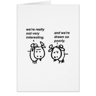 Poorly Drawn Goats Greeting Card