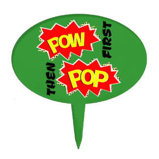 Pop and Pow Cake Topper