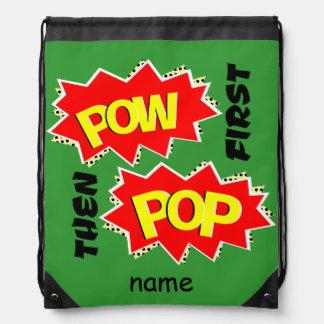 Pop and Pow Drawstring Bag