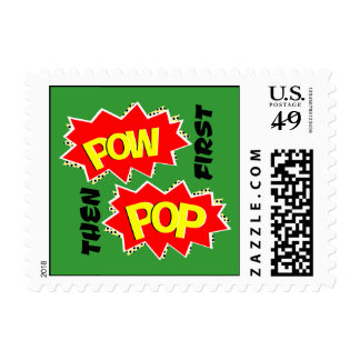 Pop and Pow Postage Stamp