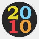 Pop Art 2010 Round Sticker