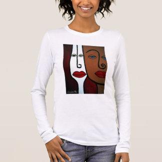 POP ART ABSTRACT FACES APPAREL LONG SLEEVE T-Shirt