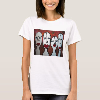 POP ART ABSTRACT FACES APPAREL T-Shirt