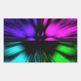 Pop Art abstract four colours. Warp drive space Rectangular Sticker